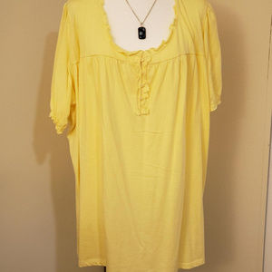 3X NWOT Yellow Blouse from Roaman's